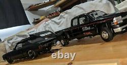 1/18 Drag Outlaws Race TEAM 3500 Silverado Trailer 1970 BLACKOUT Chevelle 69 Z28