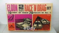 132 Vintage 1967 Eldon 2 In 1 Race N Drag Set Charger & Mustang Complete MIB
