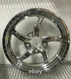 15 Front Drag Racing Wheels VINCERE Chrome Finish Set of 2