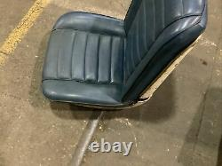 1966 CHEVROLET A-BODY FRONT BUCKET SEAT SET OF 2- BLUE With WHITE TRIM IMPALA
