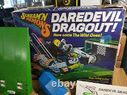 1971 Hasbro Scream'n Demons Daredevil Drag-out Moto Racing Set with Extra Bike