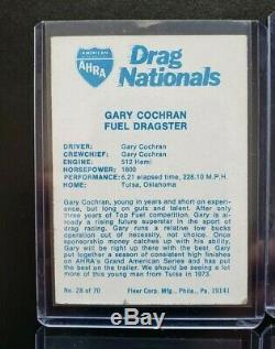 1972 Fleer AHRA Drag Nationals Complete Set of 70 Cards EX-NM