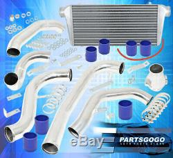 1986-1991 Mazda Rx-7 Race Turbo Charger 31X11.5X3 Intercooler + Piping Kit Blue