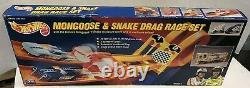 1993 Hot Wheels Mongoose & Snake Drag Race Set New Sealed In Box Free Shipping