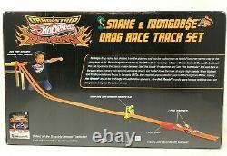 2009 Hot Wheels Drag Strip Demons Snake And Mongoose Drag Race Set Signed Misb