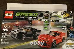 2016 LEGO SPEED CHAMPIONS CHEVROLET CAMARO DRAG RACE Factory Sealed 75874