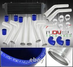 28 Black Fmic Front Mount Intercooler 2.5 T6061 Aluminum Pipe Piping Kit