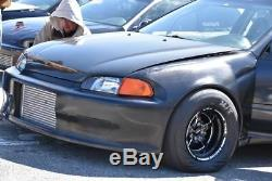 4 15x8 Vms Racing Star 5 Spoke Black Drag Rims Wheels F+r Set For Integra Type-r