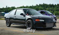 4 15x8 Vms Racing Star 5 Spoke Black Drag Rims Wheels Set Et20 For Acura Rsx