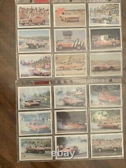 54 Diff 1971 FLEER DRAG RACING AHRA CARDS NEAR SET NRMT Condition