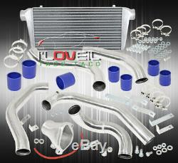 86-91 Mazda Rx7 Fc Jdm Performance Intercooler + Piping Kit Coupler Clamps Blue