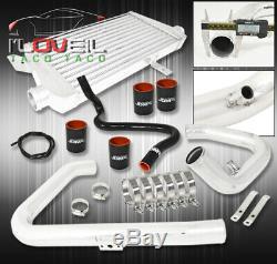 96-01 Passat / A4 B5 1.8T Aluminum Intercooler +Bolt On Piping Kit Coupler Black
