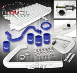 96-01 Passat / A4 B5 1.8T Aluminum Intercooler + Bolt On Piping Kit Coupler Blue