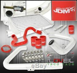 96-01 Passat / A4 B5 1.8T Aluminum Intercooler + Bolt On Piping Kit +Coupler Red