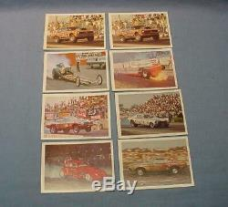 AHRA Official Drag Champs 1971 Fleer Near Set 62/63 Trading Cards NM