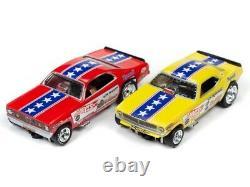 Auto World 33003 HO Snake vs Mongoose Drag Slot Car 13' Racing Set (Set of 2)
