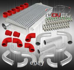 Big Fmic Front Mount Intercooler + Boosted Sqv Style BOV + Aluminum Piping Kit