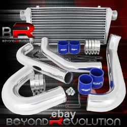 Big Front Mount Intercooler + Piping Kit Blue Couplers For 93-98 Supra 2Jz Jza80
