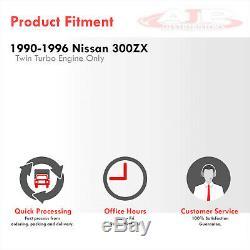 Dual Side Mount Aluminum Turbo Intercooler For 1990-1996 300ZX Fairlady VG30DETT