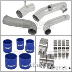 Fits 2013-2015 FRS/BRZ Silver Front Mount Intercooler + Piping Kit Turbo Charger
