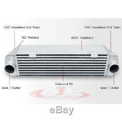 For 07 08 09 10 BMW 135i 335i Turbo Bolt On Aluminum Performance Intercooler