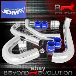 For 1993-1998 Toyota Supra 2Jz-Gte Aluminum Intercooler Piping Kit Blue Couplers