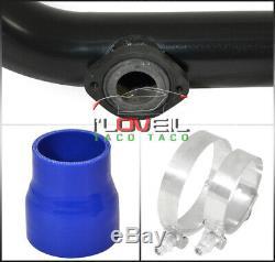 For 90-93 Integra Ls Gs B-Series Turbo Black Aluminum Piping Kit Rs/S BOV Adap
