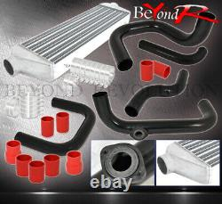 For 92-95 Civic Eg Bolt On Turbo Piping Kit SQV Adapter Intercooler +Red Coupler