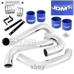 For 93-98 Supra JZA80 2JZ GTE JDM FMIC Intercooler Piping Kit Set Blue Couplers