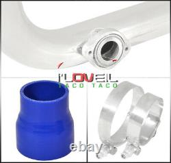 For 94-01 Integra B-Series Bolt On Polish Turbo Piping Kit Blue Couplers Adapter