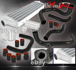 For 94-01 Integra B16 B18 Turbo Intercooler + Bolt On Piping Kit Black Couplers
