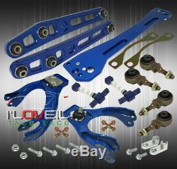 For 94-01 Integra Blue Suspension Combo Set Control Arm + Camber Kit + Subframe
