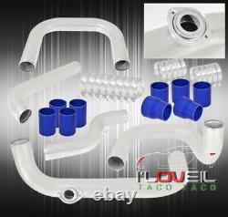 For 94-01 Integra Bolt-On Aluminum Piping Kit BOV Flange Pipe T-Bolt Clamps JDM