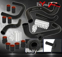 For 96-00 Civic B/D-Series Turbo Cnc Piping Kit Bov Adapter Black/Red Coupler