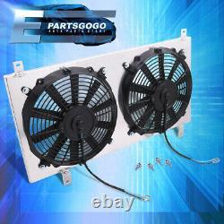 For 97-01 Honda Preude Acura CL 2.2L L4 Manual Radiator Fan Shroud Assembly Set