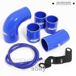 For Mitsubishi Evo X Gsr Mr Turbo Blue Aluminum T6061 Intercooler Piping Set