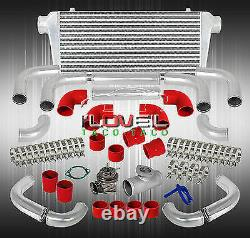 Front Mount Intercooler + Rs Style BOV + T6061 Straight Pipe + Red Couplers Sets