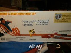 HOT WHEELS MATTEL MONGOOSE AND SNAKE DRAG RACE SET, with CARS