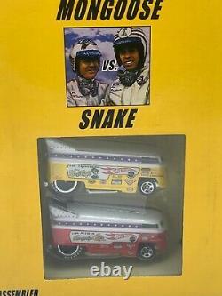 Hot Wheels Classics 2005 Mongoose & Snake VW Drag Bus Race Set #J4225