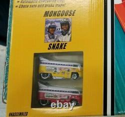 Hot Wheels Classics Mongoose & Snake Drag Race Set Volkswagen Bus SEALED
