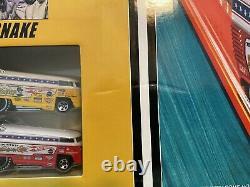 Hot Wheels Classics Mongoose & Snake VW Bus Drag Race Track Set. Unopened