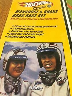 Hot Wheels Mongoose and Snake Drag Race Set Factory Sealed Mint 2005