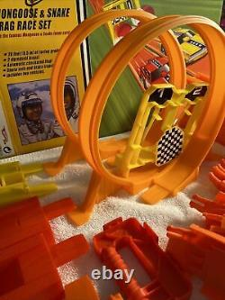 Hot Wheels Mongoose and Snake Drag Race Set with cars, extra tracks and curves