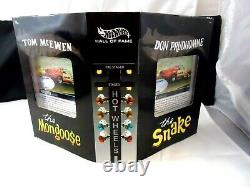 Hot Wheels RLC Snake vs Mongoose Hall of Fame Drag Race set with shipper 2003