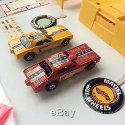 Hot Wheels Redline Snake Mongoose Drag Race Set Near Mint Complete Cars + Annual