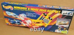 Hotwheels Mongoose & Snake Drag Race Set Mattel 1993 NEW IN SEALED BOX
