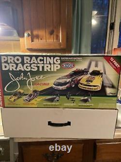 JOHN FORCE PRO RACING DRAG STRIP Slot Car Race set NEW Pulled From Box Rare