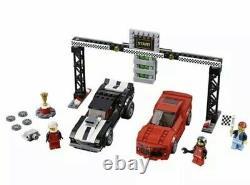 Lego Speed Champions Chevrolet Camaro Drag Race Black Red 445 Pieces 75874 Nisb
