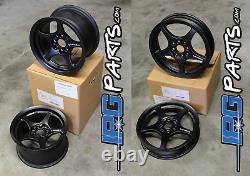 Lenso VPD & XPD Black Drag Racing Wheels Set 4x100 for Honda Civic Integra CRX