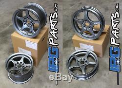 Lenso VPD & XPD Gun Metal Drag Race Wheels Set 4x100 Honda Civic / Acura Integra